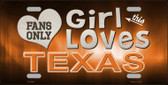 This Girl Loves Texas Novelty Wholesale Metal License Plate
