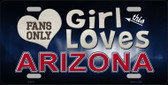 This Girl Loves Arizona Novelty Wholesale Metal License Plate