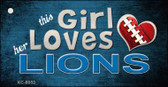This Girl Loves Her Lions Wholesale Novelty Key Chain