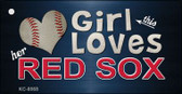 This Girl Loves Her Red Sox Wholesale Novelty Key Chain