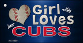 This Girl Loves Her Cubs Wholesale Novelty Key Chain
