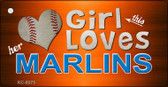 This Girl Loves Her Marlins Wholesale Novelty Key Chain
