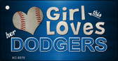 This Girl Loves Her Dodgers Wholesale Novelty Key Chain