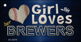 This Girl Loves Her Brewers Wholesale Novelty Key Chain