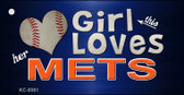 This Girl Loves Her Mets Wholesale Novelty Key Chain