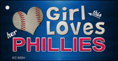 This Girl Loves Her Phillies Wholesale Novelty Key Chain