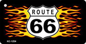 Route 66 Flames Wholesale Novelty Key Chain