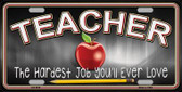 Teacher Wholesale Metal Novelty License Plate