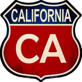 California Wholesale Metal Novelty Highway Shield