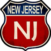New Jersey Wholesale Metal Novelty Highway Shield