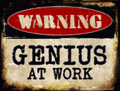 Genius At Work Wholesale Metal Novelty Parking Sign