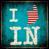 I Love Indiana Wholesale Novelty Metal Square Sign