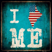 I Love Maine Wholesale Novelty Metal Square Sign