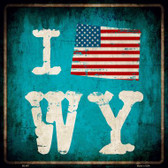 I Love Wyoming Wholesale Novelty Metal Square Sign