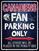 Canadiens Wholesale Metal Novelty Parking Sign