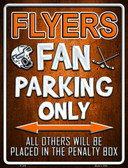 Flyers Wholesale Metal Novelty Parking Sign