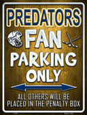 Predators Wholesale Metal Novelty Parking Sign