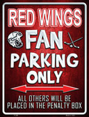 Red Wings Wholesale Metal Novelty Parking Sign
