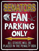 Senators Wholesale Metal Novelty Parking Sign