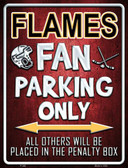Flames Wholesale Metal Novelty Parking Sign