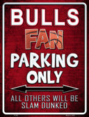 Bulls Wholesale Metal Novelty Parking Sign