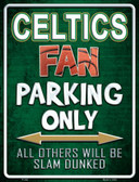 Celtics Wholesale Metal Novelty Parking Sign