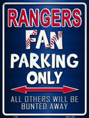 Rangers Wholesale Metal Novelty Parking Sign