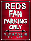 Reds Wholesale Metal Novelty Parking Sign