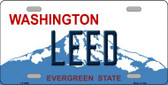 Leed Washington Background Wholesale Metal Novelty License Plate