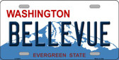 Bellevue Washington Background Wholesale Metal Novelty License Plate