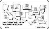 Route 66 Historic Eight Wholesale Novelty Metal Magnet