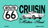 Route 66 Cruisin Mustang Wholesale Novelty Metal Magnet