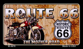 Route 66 Mother Road Motorcycle Wholesale Novelty Metal Magnet