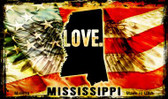 Love Mississippi Wholesale Novelty Metal Magnet