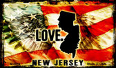Love New Jersey Wholesale Novelty Metal Magnet