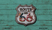 Route 66 Rusty On Wood Wholesale Novelty Metal Magnet