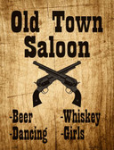 Old Town Saloon Wholesale Metal Novelty Parking Sign