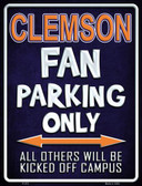 Clemson Wholesale Metal Novelty Parking Sign
