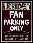 Florida State Wholesale Metal Novelty Parking Sign