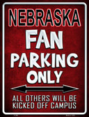 Nebraska Wholesale Metal Novelty Parking Sign