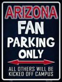 Arizona Wholesale Metal Novelty Parking Sign