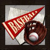 Baseball Wholesale Novelty Metal Square Sign