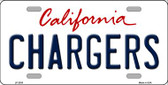 Chargers California State Background Novelty Wholesale Metal License Plate LP-2035