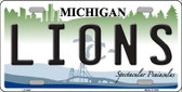 Lions Michigan State Background Novelty Wholesale Metal License Plate LP-2047