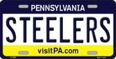 Steelers Pennsylvania State Background Novelty Wholesale Metal License Plate LP-2058