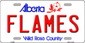 Flames Alberta Canada Province Background Wholesale Metal Novelty License Plate LP-2065
