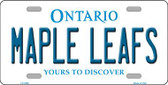 Maple Leafs Ontario Canada Province Background Wholesale Metal Novelty License Plate LP-2068