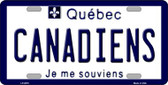 Canadiens Quebec Canada Province Background Wholesale Metal Novelty License Plate LP-2070