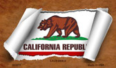 California Scroll Wholesale Novelty Metal Magnet