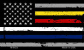 American Flag Police / Fire / EMS Wholesale Novelty Metal Magnet